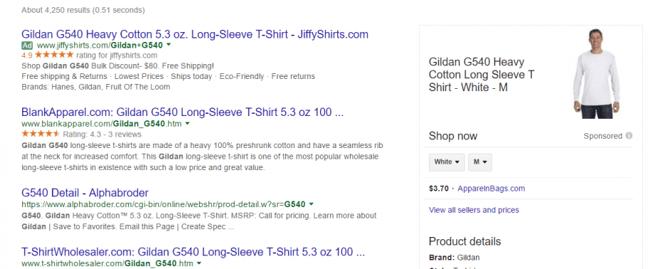 Voorbeeld Jackpot advertentie Google Shopping