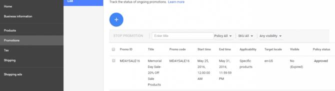 Promotions instellingen in Google Merchant Center