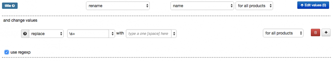 Voorbeeld toevoegen Regular Expression regel in feed mapping voor verwijderen van extra spaties
