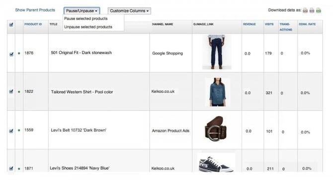 google-shopping-onrendabele-datafeedwatch-analyse-verwijderen