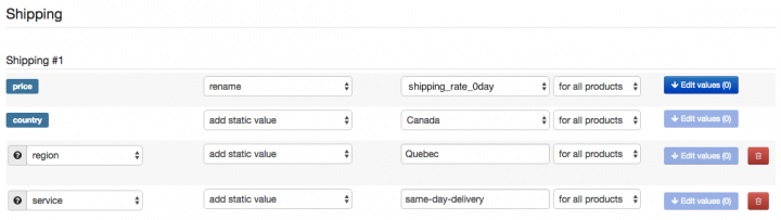 DFW Shipping Rule