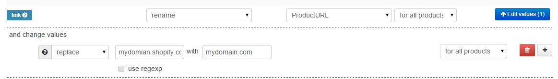 GMC URL replace rule