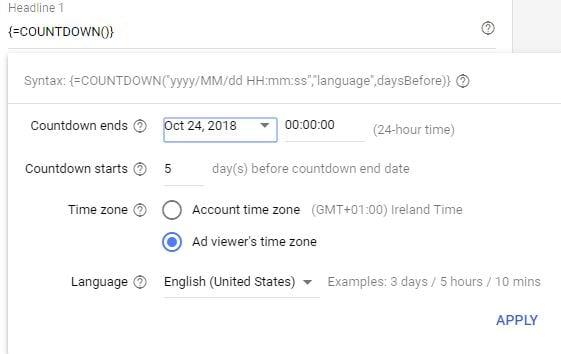 feedgestuurde-tekstadvertenties-promotie-aftellen-im-tekstadvertenties