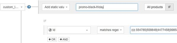 Google Shopping custom labels voor black Friday promo met DataFeedWatch regels