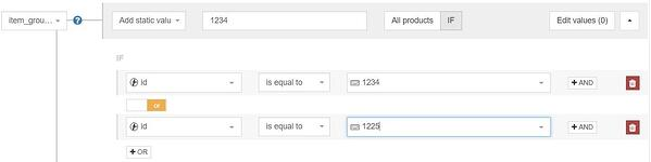 Google Shopping item group id DataFeedWatch regel