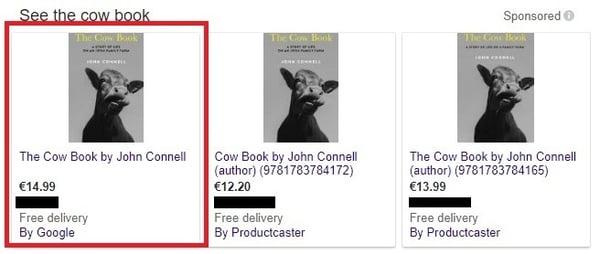 Google Shopping prijs vergelijking