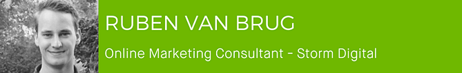 Ruben van Brug - Online Marketing Consultant - Storm Digital