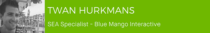 Twan Hurkmans - SEA Specialist - Blue Mango Interactive