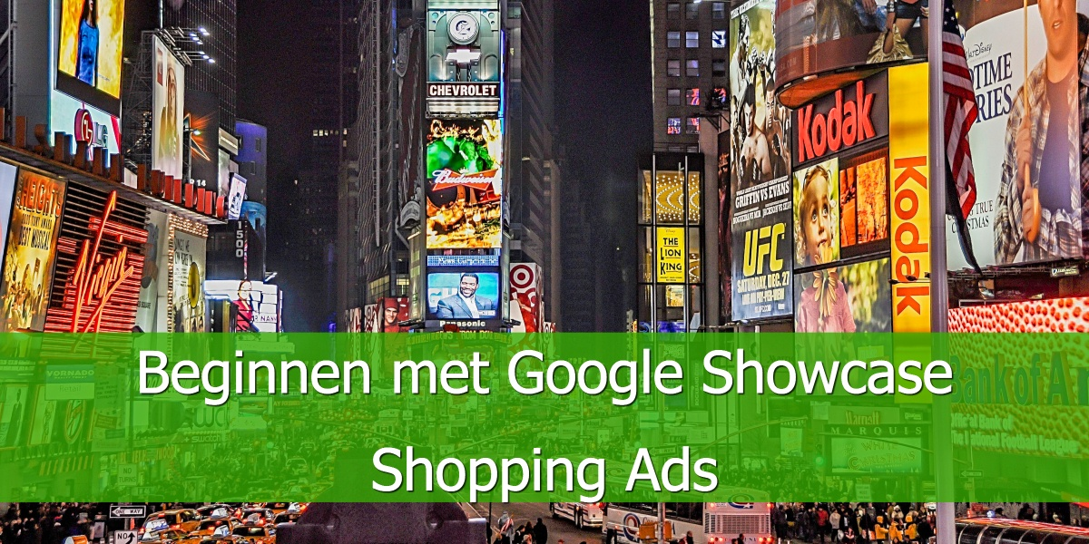 Beginnen met Google Showcase Shopping Ads